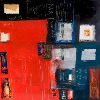 Café- Oil on canvas - 100 x 100 cm