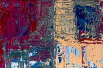 Desde el café - Oil on canvas - 24 x 27 cm