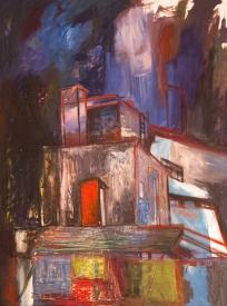 Cemento y cielo - Oil on canvas - 160 x 200 cm