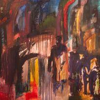 Sólo la noche sabe - Oil on canvas - 180 x 180 cm