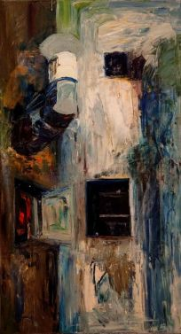 Callejón I - Oil on canvas - 30 x 60 cm