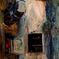 Callejón I - Oil on canvas - 30 x 60 cm
