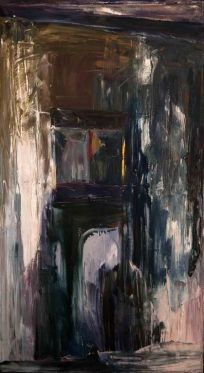 Callejón II - Oil on canvas - 30 x 60 cm