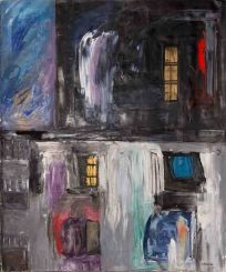 Ventanal, Buenos Aires - Oil on canvas - 160 x 180 cm