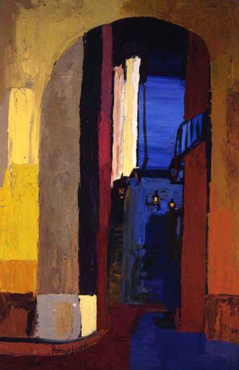 Portal de la Boqueria, Barcelona - Oil on canvas - 70 x 95 cm