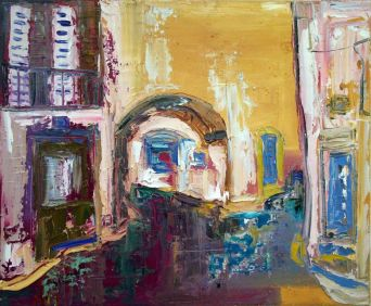Es call, Cadaqués - Oil on canvas - 24 x 17 cm