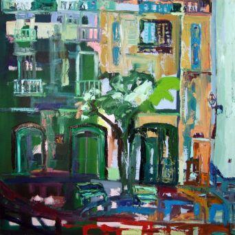 Es Poal, Cadaqués - Oil on canvas - 90 x 90 cm