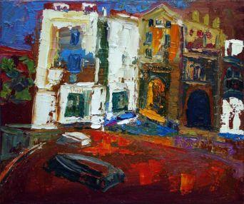 Port Doguer, Cadaqués - Oil on canvas - 24 x 17 cm