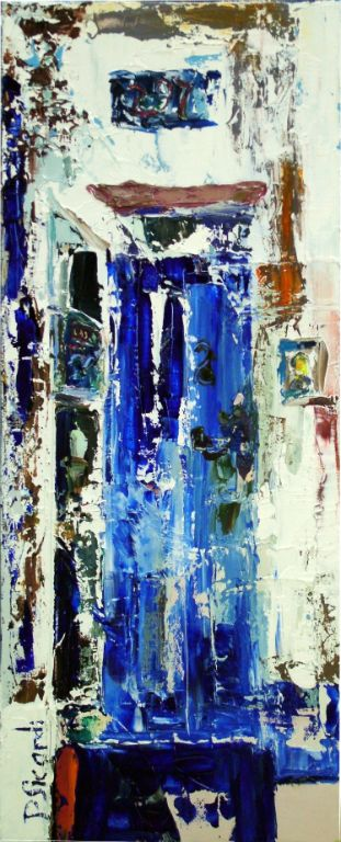 Puerta 7, Cadaqués - Oil on canvas - 25 x 60 cm