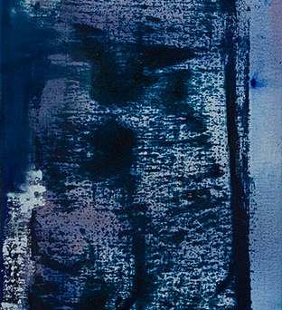 Untitled - Mixed media on canvas - 25 x 60 cm