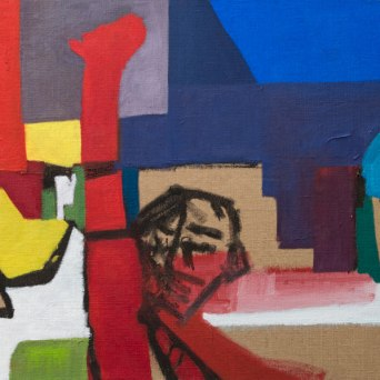 Ver y callar - Mixed media on jute - 180 x 130 cm