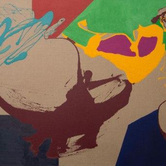 Untitled - Mixed media on jute - 195 x 130 cm